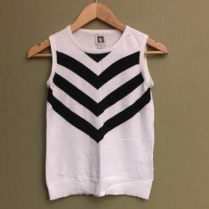 Black and white sweater vest-sleeveless -XS